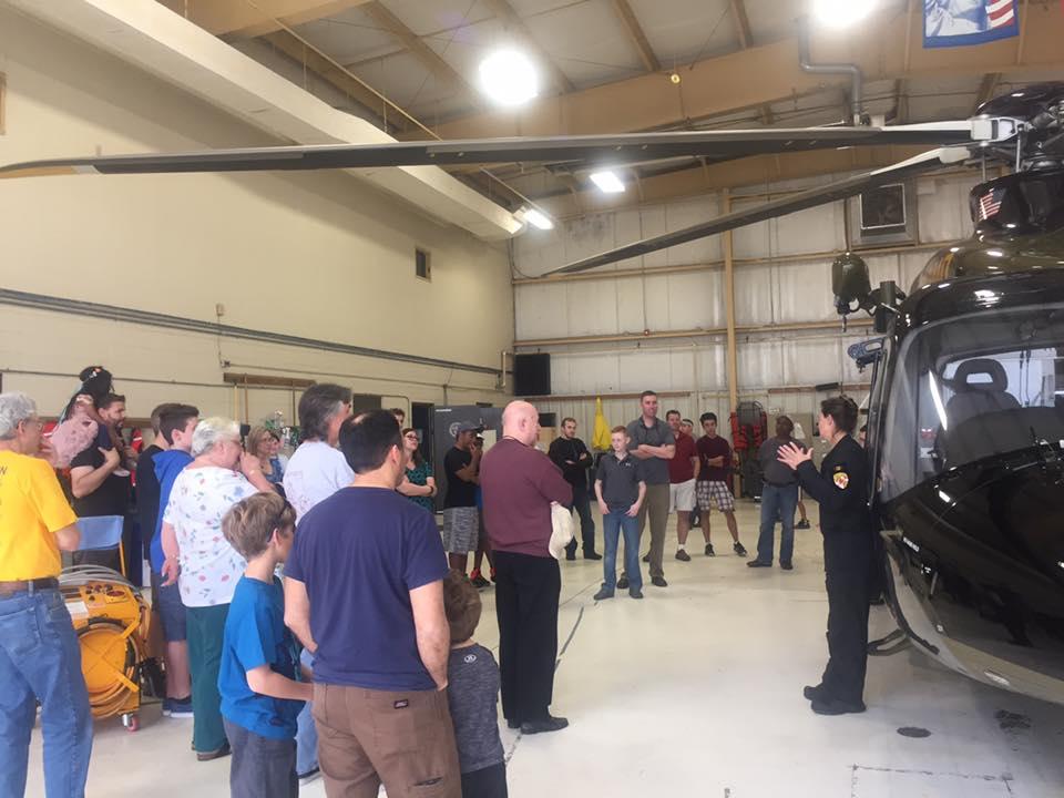 Bravo at the Maryland State Police hangar